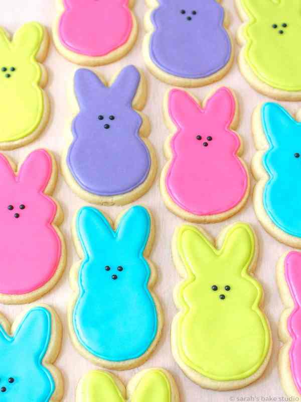 My first attempt at PEEPS Easter Bunny Sugar Cookies back in 2014!