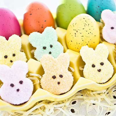 Peeps Shortbread Bunnies from Bake Love Give