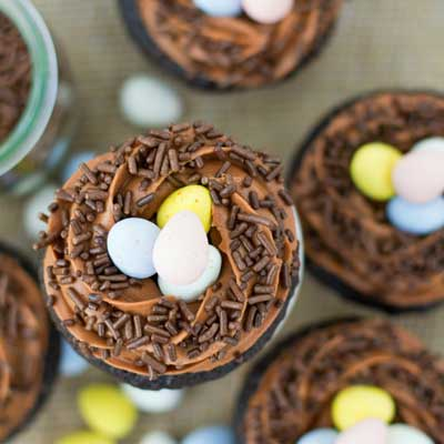 Robin's Nest Cupcakes from The Crafting Foodie