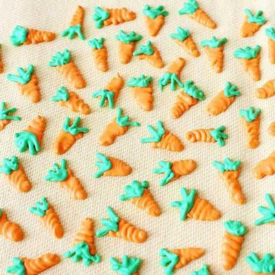 Royal Icing Carrots from Sarah's Bake Studio