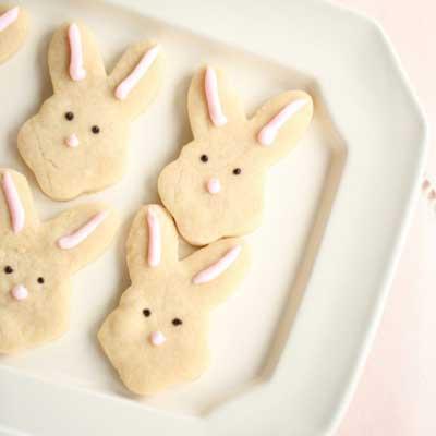 Butter Bunnies Shortbread Cookies from Julie Blanner