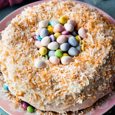 Coconut Easter Nest Cake from Sally's Baking Addiction
