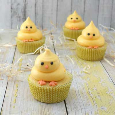 Easter Chick Cupcakes from The Simple Sweet Life