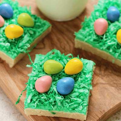 Easter Egg Hunt Sugar Cookie Bars from Julie's Eats & Treats