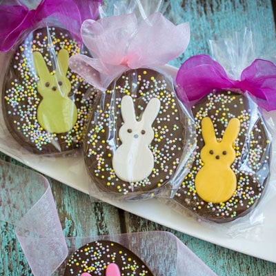 Peeps Chocolate Speckled Eggs from Bake Love Give