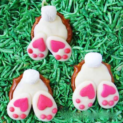 Pretzel Bunny Butts from Hungry Happenings