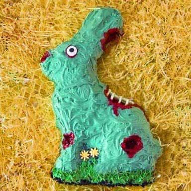 Zombie Easter Bunny Cake from Hungry Happenings