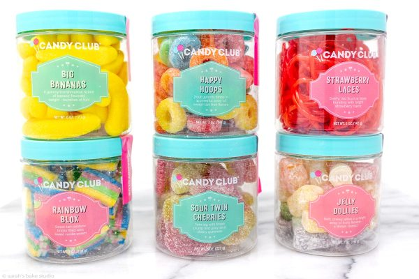 Candy Club Subscription Box - a peek into a subscription box service filled with sweet and sour candy.