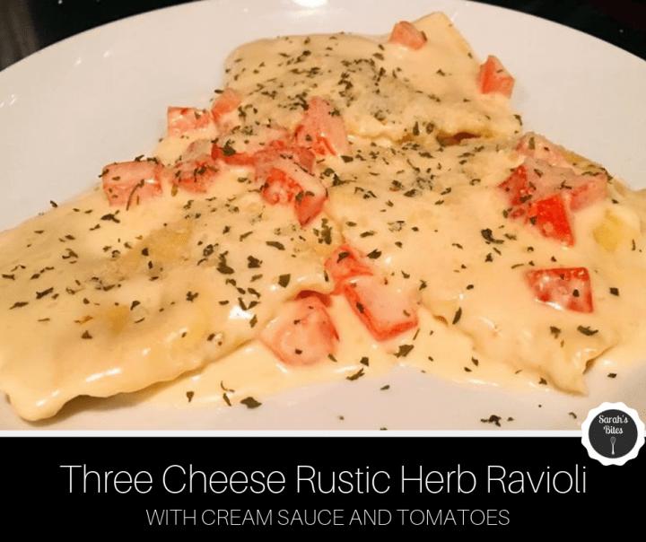 Three Cheese Rustic Herb Ravioli
