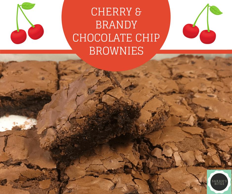 Cherry and brandy chocolate chip brownies