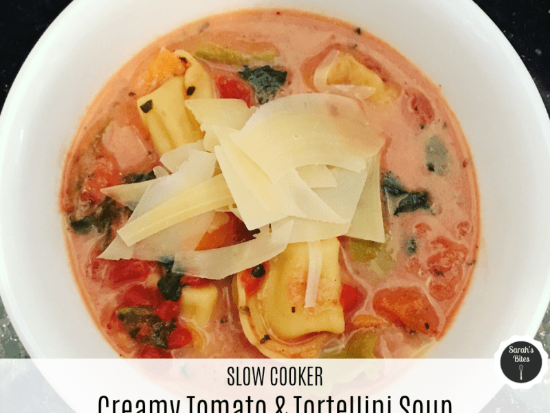 creamy tomato & tortellini soup