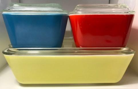 Primary Colors Refrigerator Dish Set (1940s)