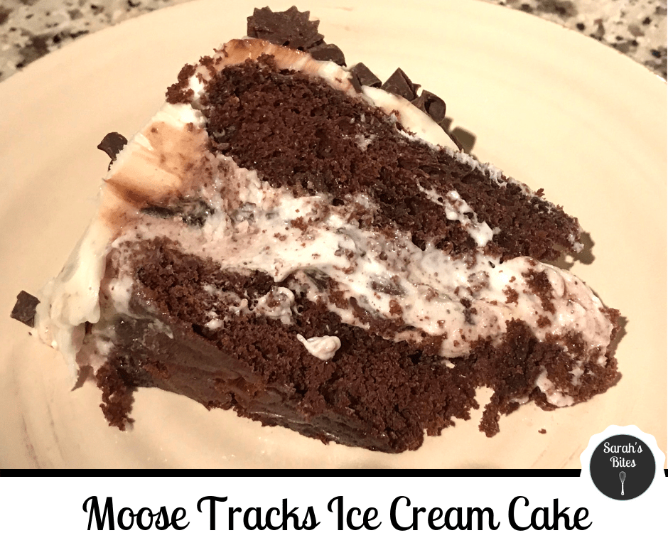 Moose tracks ice cream cake