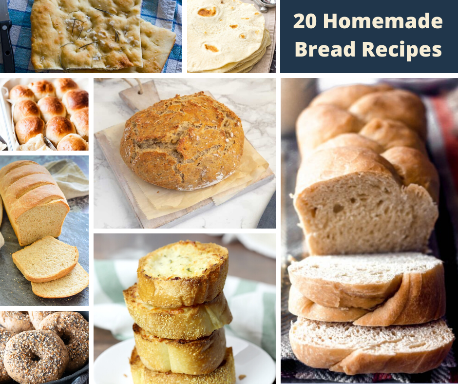 Collage of breads
