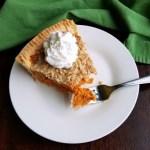 Slice of carrot pie