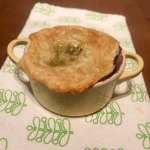 Cherry pie in a mini cocotte