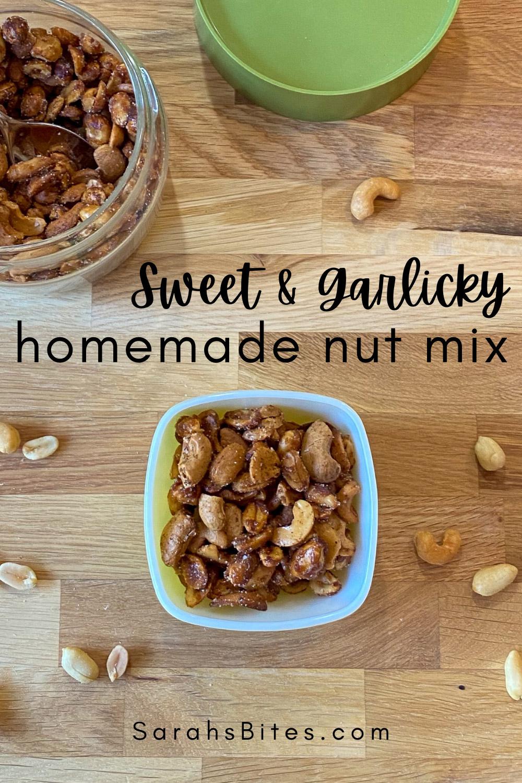 Sweet & Garlicky Homemade Nut Mix