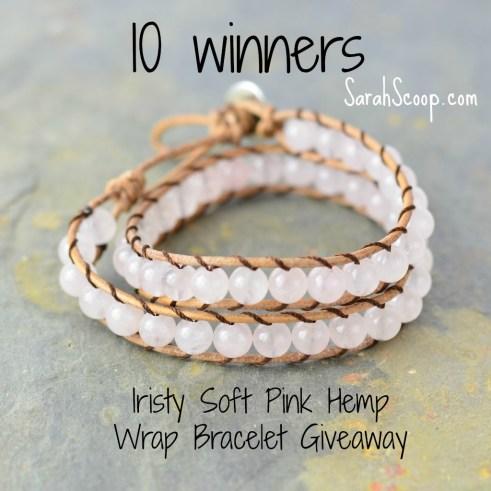 Soft Pink Hemp Wrap Bracelet