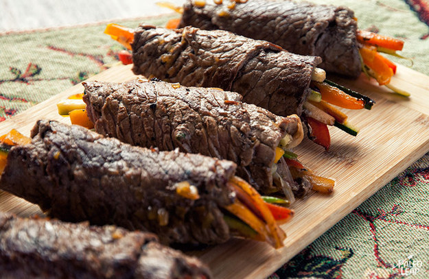 Balsamic Steak Rolls