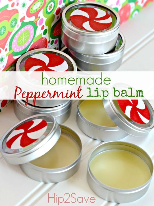 DIY lip balm holiday gift