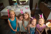 The girls at Selah's Birthday Tea party.