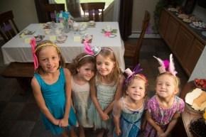 The girls at Selah's Birthday Tea party.
