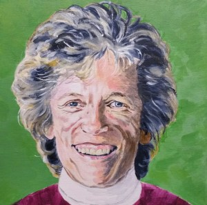 Portrait of Liz Hodgkin by Caversham Artist Sarah Seymour