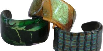 cuff bracelets, fused glass, glass jewelry, kiln formed glass