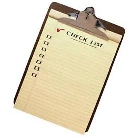 May Check List
