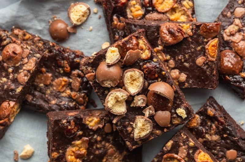 Malteaser fudge brownie bars