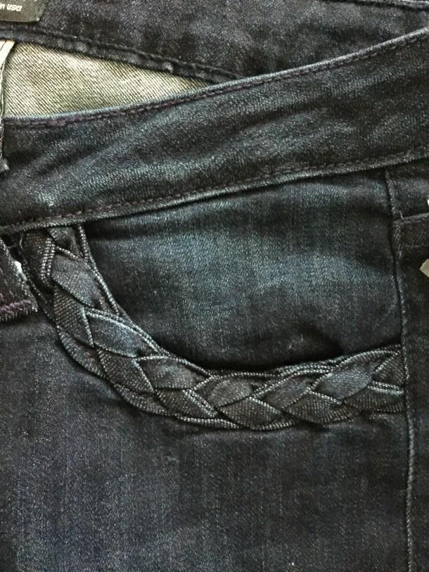 Just Black Irina Braided Pocket Flare Jeans stitch fix