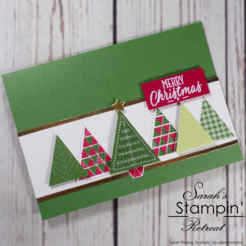 Quilted Christmas Tree Christmas Card