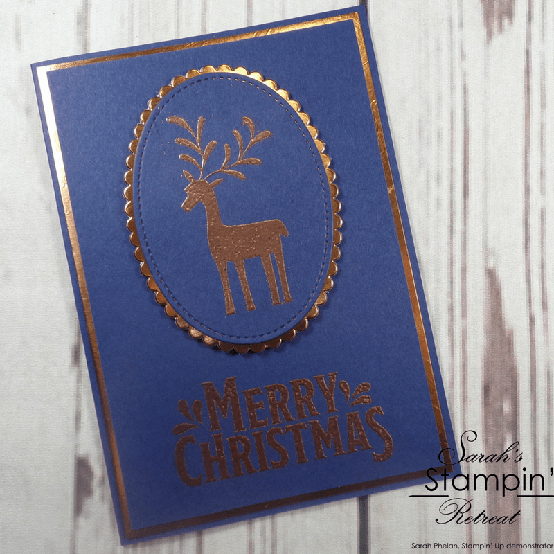 Merry Mistletoe Handmade Christmas Card