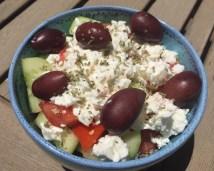 Greek salad (lunch)