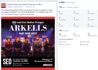 Arkells Social Media Release on Facebook