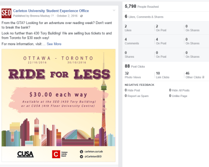 Ride for Less Facebook