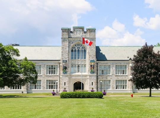 Albert College main front building in June 2019
