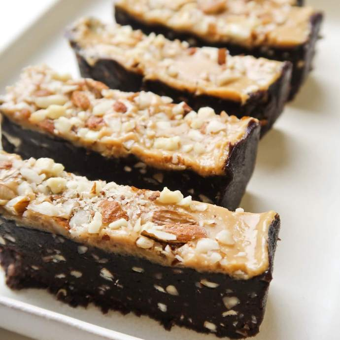5-Ingredient Brownie Peanut Butter Bars