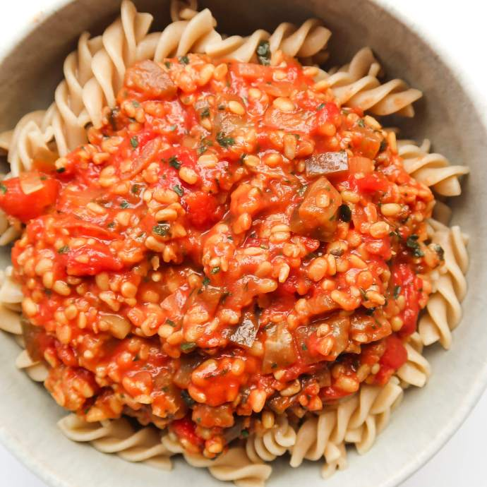 Simple Vegan Lentil Bolognese Recipe