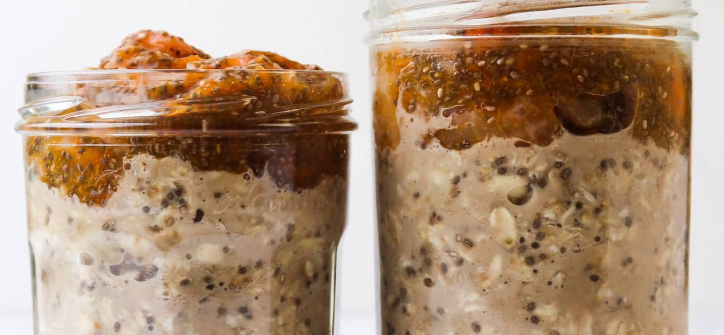 Summer Fruit Overnight Oats With Peach & Apricot Jam