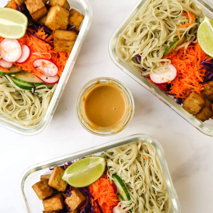 Simple Vegan Udon Noodle Bowl Perfect for Meal Prep