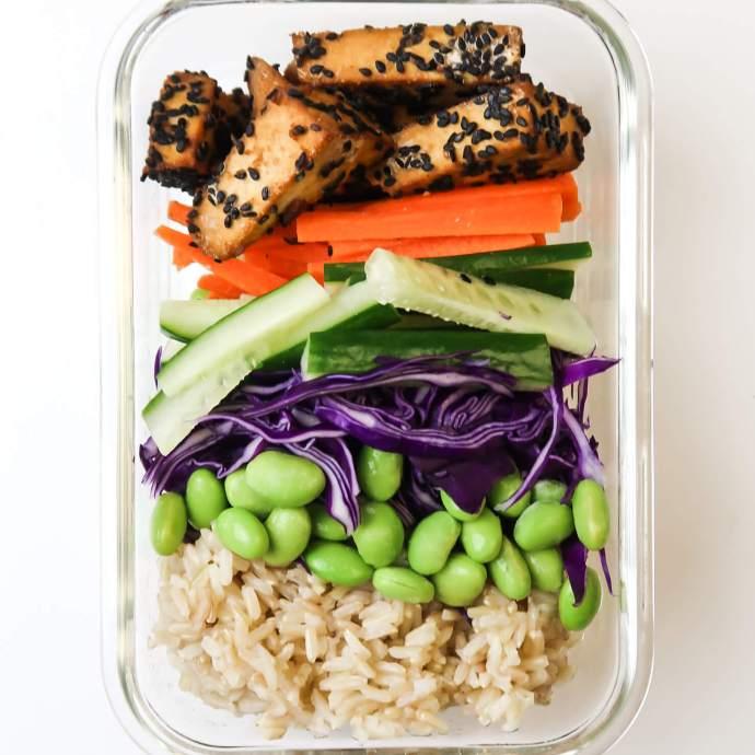 Simple Vegan Sushi Bowl for Meal Prep