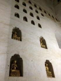Lots of Buddhas in the wall at Ananda Pagoda, Bagan