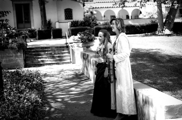 ladies look on
