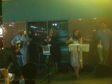 String Theory: busking on the corner