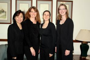Hill Street Quartet: Irene Shiao (violin), Anne Sherrill (cello), Rachel Fabulich (viola), Sarah Wallin Huff (violin)
