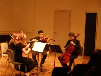 "Quantum Quartet (Sarah Wallin Huff, Danielle Cummins, Miguel Cunanan, Benjamin Coyte), performing ""Anima Mechanicae"""