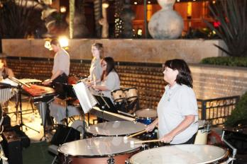 Playing Percussion