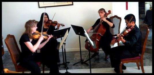 Sarah (violin), Kathleen (violin), Anne (cello), Miguel (viola)