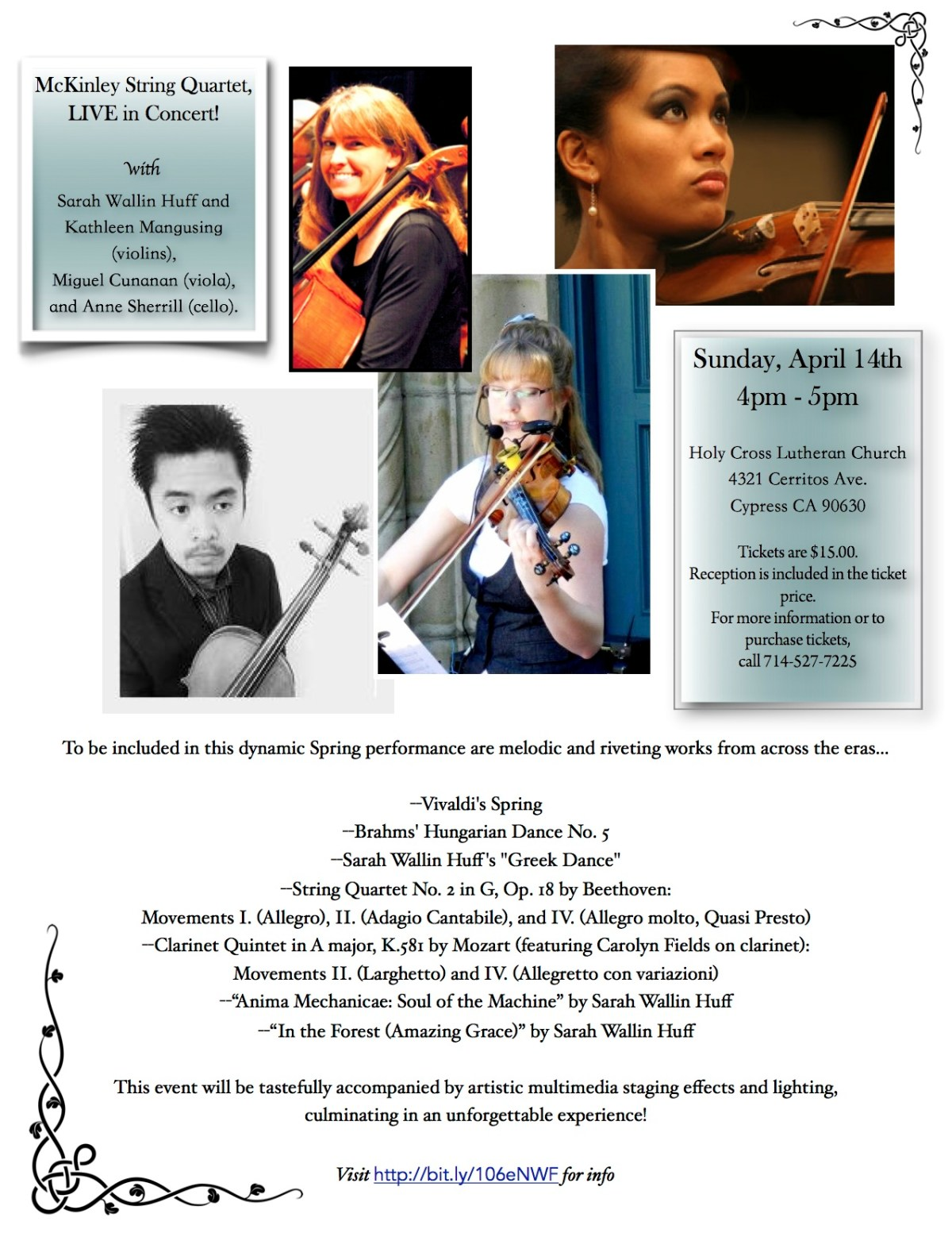 McKinley Quartet Flyer